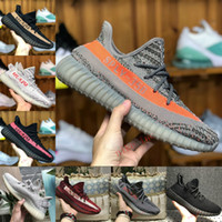 Wholesale rubber band store - 2018 SPLY 350 V2 Boost Belgua 2.0 black Orange sports casual shoes store Sale discount Cheap Kanye West Men Women Basketball sneakers