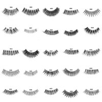 Wholesale real human eyelashes resale online - New Styles Real Human Hair Eyelashes False lashes Soft Natural Thick Fake Eye lashes D Eye Lashes Extension