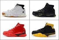 nuevos zapatos kobe al por mayor-2018 New kobe 1 Protro ZK1 Negro Dorado Rojo Thomas Camuflaje Verde Goma Zapatillas de baloncesto para Hombre KB One 1s Zapatillas de deporte Zapatillas de deporte Tamaño 40-46