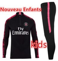 Wholesale paris kids - New kids Paris tracksuit 2018-2019 psg soccer jogging jacket MBAPPE NEYMAR JR POGBA 18 19 Paris child Football Training suit