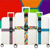 correia de malas de correia de bagagem de viagem venda por atacado-Cinta de bagagem Cross Belt Embalagem Alfândega Ajustável Senha Safe Travel Suitcaseband Nylon Suitcase com travel accessorie LJJE20