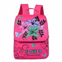 denim imprimé fleurs achat en gros de-2018 nouvelle arrivée ultra légère impression fleur mochila escolar cartables mochila infantil pour filles sac d'étudiant enfant sac à dos