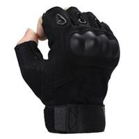 ingrosso braccio a banda lunga a righe-Forze speciali uomo e donna sport guanti mezze dita guanti tattici Army Fighting slip shell in fibra di carbonio