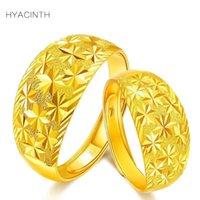 anel de ouro 999 venda por atacado-Fine Jewelry Céu Estrelado Anéis Real 999 Pure Gold Opening Anéis Ajustáveis Acessórios de Moda 2018 Novas Mulheres Homens Jóias