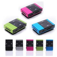 Wholesale mini clip 8gb mp3 player resale online - HOT SALE fashion Mini USB Clip Digital Mp3 Music Player Support GB SD TF Card Slick stylish design Sport Compact mp3 player