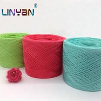 máquina de tricô lã venda por atacado-500g Mão tricô fio de lã de cor Puro Crochet fio para tricô Mercerizado fio de algodão Máquina de bordado ZL6510