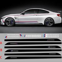 ingrosso styling del corpo bmw-205 CM 80.7 pollici M PRESTAZIONI Adesivi laterali carrozzeria per BMW X1 X3 M3 Serie M5 Adesivi personalizzati Car Styling