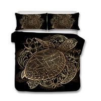 Wholesale designer king size bedding sets online - designer luxury bedding sets D Art Prints Turtle and Wind Chimes Bedding Set Duvet Covers Pillow Case King Size T