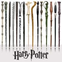 magic toys al por mayor-Harry Potter Varita mágica Cosplay creativo 18 Estilos Hogwarts Serie Harry Potter Nueva actualización Resina Varita mágica no luminosa para niños grandes Juguete