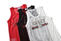 marca impresa relojes al por mayor-Clásico reloj correas GC UNisex T chaleco marca CC logo carta impresa camiseta sin mangas de las mujeres de moda Hip Hop Street Style camiseta