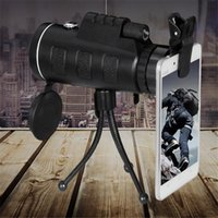 Wholesale Night Vision Eyepiece - Wholesale rotary eyepiece 40X60 single tube telescope high-definition low light night vision belt compass free shipping