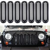 innenraum bestellen großhandel-Kühlergrilleinsatz-Kit Schutzabdeckung für 08-15 Jeep Wrangler (Schwarz)