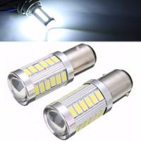 Wholesale car lamp bulb 1157 5w for sale - Group buy Hot Sale BAY15D P21 W SMD LED Car Headlight Backup Reverse Fog Head Light Replacement Bulb K White Lighting