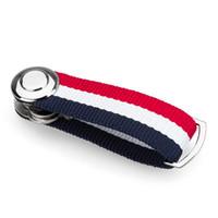 cinta de tartán a cuadros al por mayor-Nuevo Smart Key Wallet Ribbon EDC Gear Holder Organizador creativo de regalos Portátil Clave compacto Clip Variedad de opciones