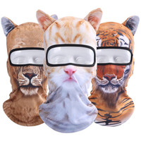 Wholesale 3d balaclava mask for sale - 3D Animal Ear Balaclava Outdoor Full Face Mask Motorcycle Hats Party Halloween Full Face Mask ST01