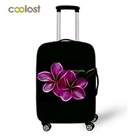 Wholesale Cover Luggage - Colorful Flower Suitcase Covers Elastic 18 20 22 24 26 28 Inches Travel luggage Cover Protector Dustproof Spandex Protective Cover