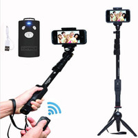 Wholesale aluminum alloy selfie monopod for sale - Aluminum Alloy Selfie Stick Yunteng Bluetooth Extendable Handheld Yt Tripod Monopod