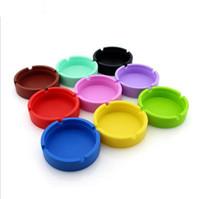 round ashtray großhandel-Großhandel Tragbare Gummi Silikon Weiche Umweltfreundliche Runde Aschenbecher Aschenbecher Halter Tasche Ring Aschenbecher für Zigaretten kühlen Geräte