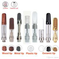 Wholesale ecig wax - Th205 Th210 M6T05 Glass Wax Vaporizer Ceramic Wickless Cartridge 510 o Pen Thick Oil Vape Pen disposable eCig Atomizer .5ml 1ml
