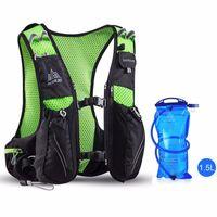 прогулочный спортивный рюкзак оптовых-Wholesale-AONIJIE 10L Running Backpack mochila Trail Racing Hydration Vest Pack Outdoor Sport Hiking Running Hydration Backpack Water Bag