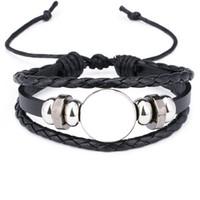 granat herz armband großhandel-seil armbänder für sublimation mode leere armband schmuck für thermotransferdruck neuen stil 2018 schmuck großhandel