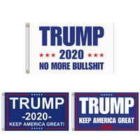 Wholesale more america - 90*150cm Trump 2020 Flag Double Sided Printed Donald Flags Keep America Great Again Polyester Decor Banner no more bullshirt flag 100pcs