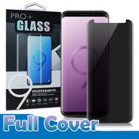 Wholesale 3d Spy - Privacy 3D Curved Tempered Glass For Galaxy S9 S8 Plus Note8 S6 S7 Edge Case Friendly Anti-Spy Full Cover Screen Protector With Package