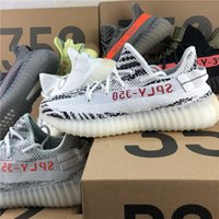 Wholesale cream pink - 2018 Boost 350 V2 Cream White SPLY-350 High Quality Zebra CP9654 Kanye West 350 V2 Boost Men Trainers Seankers Sports Shoes With Box Receipt