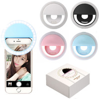 luz de flash para cámara al por mayor-Luz de LED universal Selfie Light Ring Light Lámpara de destello Selfie Ring Lighting Camera Photography para Iphone Samsung con paquete al por menor