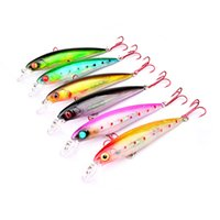 Wholesale squid minnow lures for sale - New ABS Plastic Minnow Laser Fishing lure colors cm g Red Hook Wobbler Swimming Squid Fish Painted Bionic Swimbait