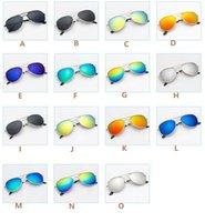 baby-sonnenbrille uv großhandel-2019 heiße neue mode aviator style design kinder mädchen jungen sonnenbrille kinder strand liefert uv brillen baby sonnenschirme brille