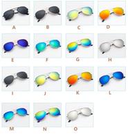 erkekler için yeni gözlükler toptan satış-2019 Sıcak Yeni Moda Aviator Stil Tasarım Çocuk Kız Erkek Güneş Gözlüğü Çocuklar Plaj Malzemeleri UV Koruyucu Gözlük Bebek Güneşlik Gözlükleri