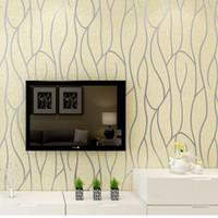 papel pintado de papel de revestimiento al por mayor-Moderno 3D Relieve Deerskin línea 3D Flocado papel de pared Para Dormitorio Sala de estar Decoración Del Hogar 3D WallPaper rollo