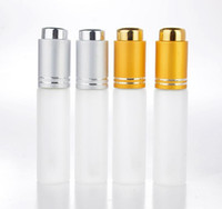 Wholesale free perfume vials resale online - 20 ML Mini Portable Frosted Glass Refillable Perfume Bottle Empty Cosmetic Parfume Vial With Dropper