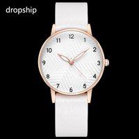 leather bracelet women wrist watches Australia - Small Simple White Watch Women Retro Leather Female Clock Quarz Elegant Laides Wrist Watch Fashion 2018 Bracelet Brand