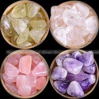 chips de cristal de roca al por mayor-200g Natural Piedra de cuarzo rosa Amatista Piedra Roca Chips Espécimen Curación A172 piedras naturales y minerales