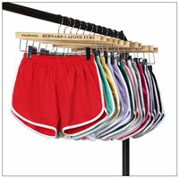 Wholesale gym clothing woman yoga pants online - 22 Colors Women Casual Shorts Yoga Sports Gym Homewear Fitness Pants Summer Shorts Beach Running Home Clothing Pants CCA9984