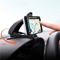 carrinho de exposição de varejo de telefone móvel venda por atacado-6.5 polegadas Painel Do Telefone Do Carro Titular Clipe Fácil Suporte de Montagem Suporte Do Telefone Do Carro Suporte de Exibição GPS Suporte Suporte Do Carro Clássico Preto (Varejo)