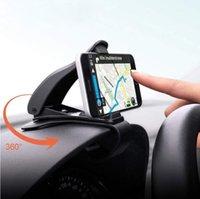 ingrosso basamento di esposizione al dettaglio del telefono mobile-Supporto per telefono da 6,5 pollici per cruscotto Supporto per clip facile Supporto per telefono per auto Supporto per display GPS Supporto per supporto per auto classico nero (vendita al dettaglio)