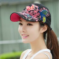 çatal kepçeleri 1adet toptan satış-1 adet Siyah Beyaz Kızlar Lady Beyzbol Kapaklar Çiçekler Nakış Snapbacks Şapkalar Kadınlar Yaz Ayarlanabilir Hip Hop Beyzbol Şapkaları Gorras