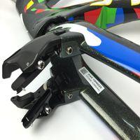 plata mate carbono al por mayor-2 años de garantía Camuflaje cuadro de bicicleta de carbono v se rompe marco de bicicleta de carbono plata 49/52/54/56 / 58cm + manillar + rompe el envío libre