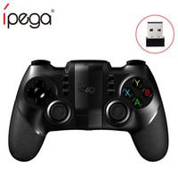 android tablet pc-fenster großhandel-iPega PG-9076 PG 9076 Bluetooth-Gamepad für PlayStation3-Controller mit Halterung für Android / Windows-Smartphon-Tablet-PC