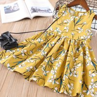 Wholesale Korean Cute Dress Lines - Everweekend Lovely Kids Cherry Floral Ruffles Dress Cute Baby Candy Color Clothes Sweet Girls Korean Fashion Summer Party Dress