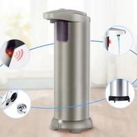 automatische handseifenspender großhandel-Automatische Seifenspender Infrarot-Sensor Seifenspender ABS + Edelstahl Automatische Champagner-Händedesinfektionsmaschine