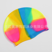 Wholesale gelled hair for sale - Silica Gel Cap Men Women Currency Non Slip Swimming Caps Hair Care Leisure Time Training Hot Sale hp ii