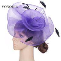 Wholesale crinoline fascinator online - Charming multiple color crinoline fascinator headwear party headpiece millinery hair accessoiry suit for all seasons MYQ076