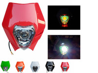 Wholesale Dirt Bike Honda - Universal LED Vision Headlight Street Fighter Headlamp Off-Road Dirt bike For Honda Yamaha Suzuki Kawasaki Chopper Cafe Racer