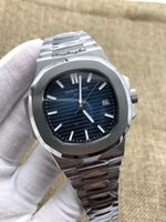 Wholesale miyota watches - Top MK Mens Automatic Miyota 9015 Cal.324 SC Nautilus Watch 40mm Blue Dial Men Date Eta 5711 Dive Crystal Swiss Watches