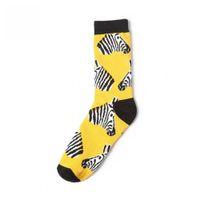 Wholesale zebra sock animal online - Socks Socks CRAZY Hop Awesome Fashion Funny Men s women Crew Fashion Hip Husky Zebra Skateboard FLY Brand