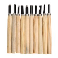 Wholesale carved knife wood online - 10pcs Set Hand Wood Carving Chisels Knife Tool for Basic Woodcut Working Clay Wax DIY Tools and Detailed Woodworking Hand Tools